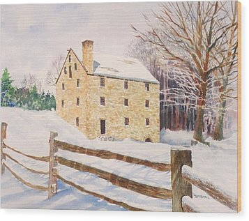 Washington's Grist Mill Wood Print by Tom Harris