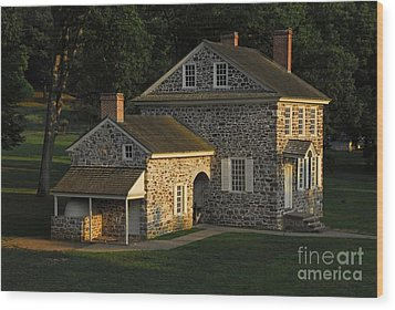 Washington's Headquarters At Valley Forge Wood Print by Cindy Manero