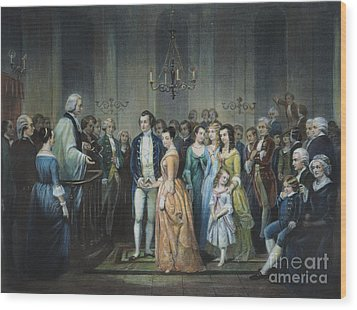 Washingtons Marriage Wood Print by Granger