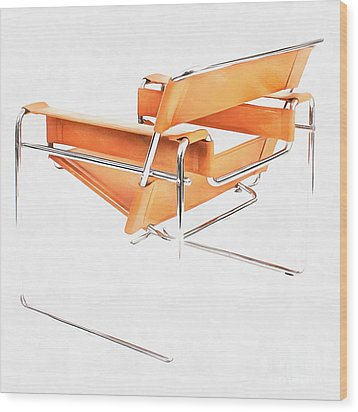 Wassily Chair Mid-century Modern Wood Print by Edward Fielding