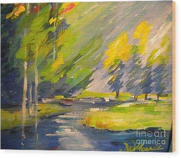 Watauga River View Wood Print