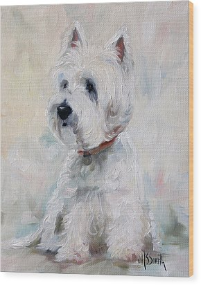Watch Dog Wood Print by Mary Sparrow