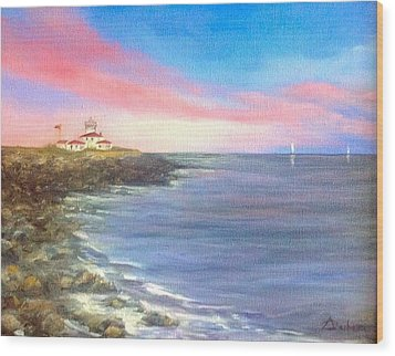 Watch Hill Light House Wood Print