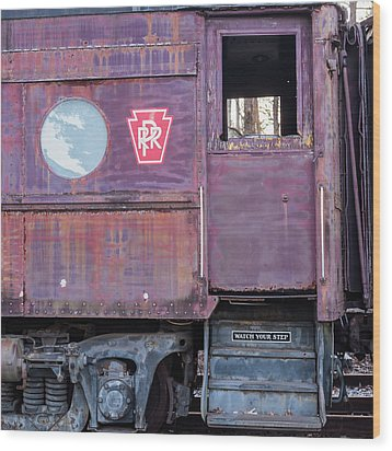 Wood Print featuring the photograph Watch Your Step Vintage Railroad Car by Terry DeLuco