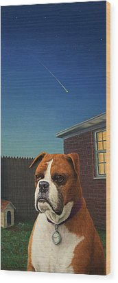 Watchdog Wood Print by James W Johnson