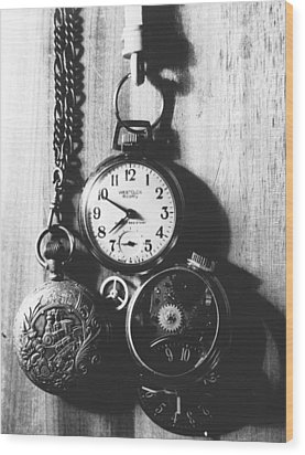 Wood Print featuring the photograph Watches by Don Youngclaus