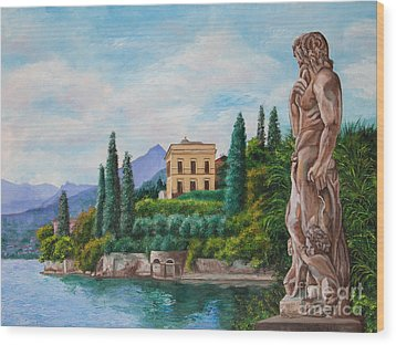 Watching Over Lake Como Wood Print by Charlotte Blanchard
