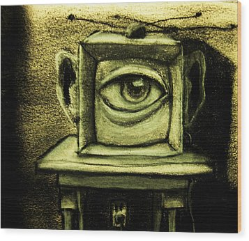 Watching The Watcher Wood Print by Chris Boone