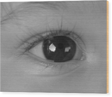 Watching You ...  Wood Print by Juergen Weiss