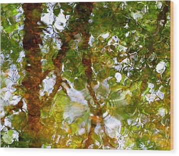 Water Abstract 17 Wood Print by Joanne Baldaia - Printscapes