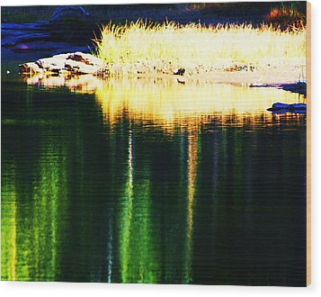 Water Abstract 2 Wood Print by Russell  Barton