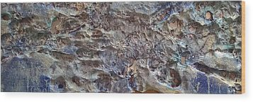 Wood Print featuring the painting Water Abstract #3117 by Robert Anderson