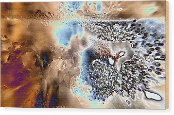 Water Abstract 9 Wood Print