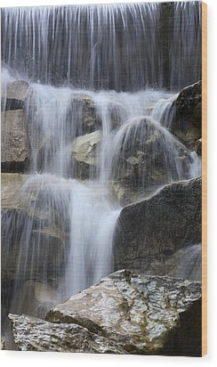 Water And Rocks Wood Print by Frank Tschakert