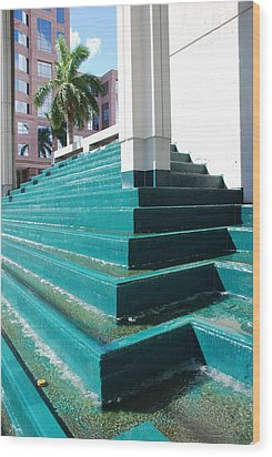 Wood Print featuring the photograph Water At The Federl Courthouse by Rob Hans