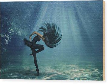 Water Ballet Wood Print by Debby Herold