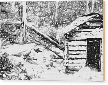 Water Cabin  Wood Print