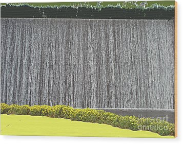 Wood Print featuring the photograph Water Curtain by Bill Thomson