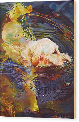Water Dance 2 Wood Print by Kelly McNeil