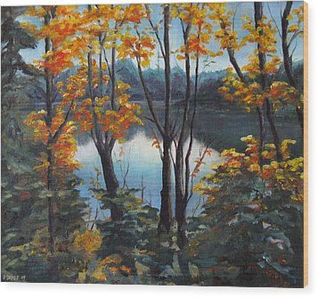Wood Print featuring the painting Water by Diane Daigle