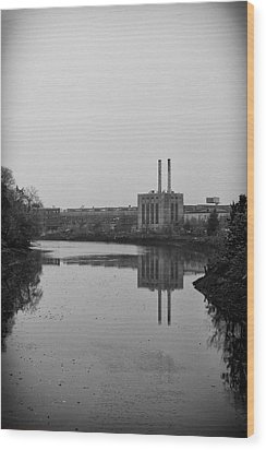 Wood Print featuring the photograph Water Factory by Lora Lee Chapman