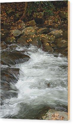 Water-fall Wood Print