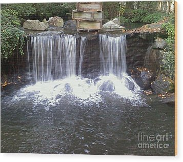 Water Fall  Wood Print