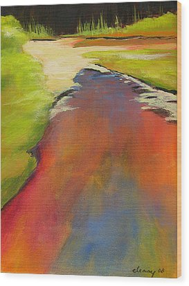 Water Garden Landscape 7 Wood Print by Melody Cleary