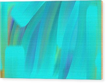 Water Wood Print by George Pedro