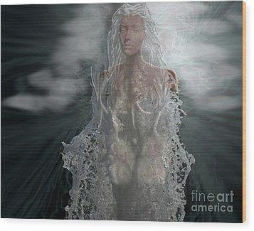 Water Goddess Wood Print by Cheri Doyle
