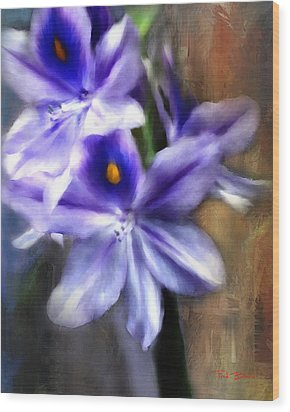 Water Hyacinth Wood Print by Fred Baird