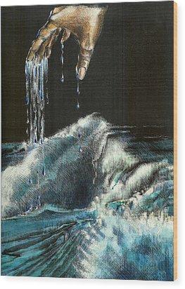 Water Wood Print by Kathleen Romana