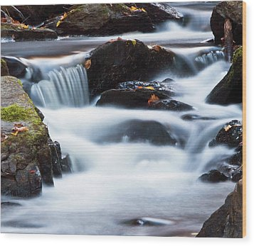 Water Like Mist Wood Print