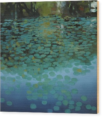 Water Lilies 3 Wood Print