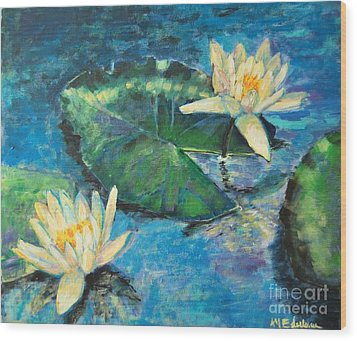Water Lilies Wood Print by Ana Maria Edulescu