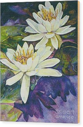 Water Lilies Wood Print by Norma Boeckler