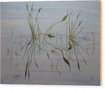 Wood Print featuring the painting Water Music by Joel Deutsch