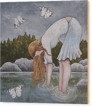 Water Prayer Wood Print by Sheri Howe