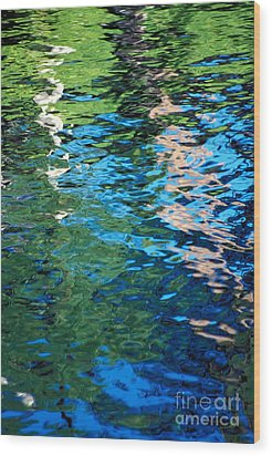 Water Reflections Wood Print by Bill Brennan - Printscapes