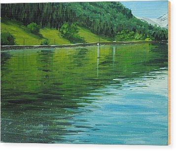 Water Reflections Wood Print by Nolan Clark