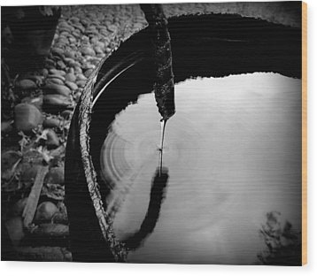 Water Rings Wood Print