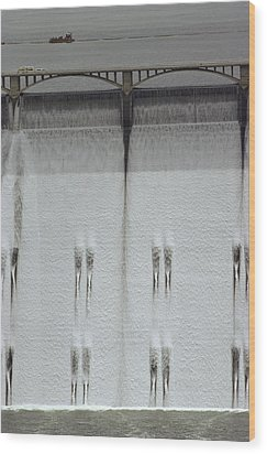 Water Rushing Down The Face Wood Print by Kenneth Garrett
