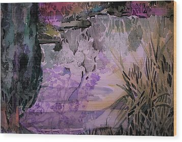 Wood Print featuring the painting Water Sprite by Mindy Newman