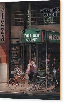 Water St Gourmet Deli  Wood Print by Mike Savad
