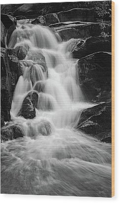 water stair close to the Heinrich Heine hiking way, Harz Wood Print
