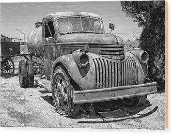 Water Truck - Chevrolet Wood Print