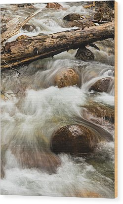 Wood Print featuring the photograph Water Under The Bridge by Alex Lapidus