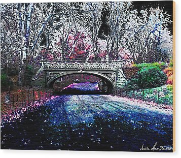 Water Under The Bridge Wood Print