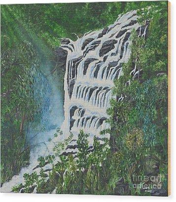 Water Wood Print by Usha Rai