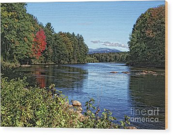 Wood Print featuring the photograph Water View In New Hampshire by Gina Cormier